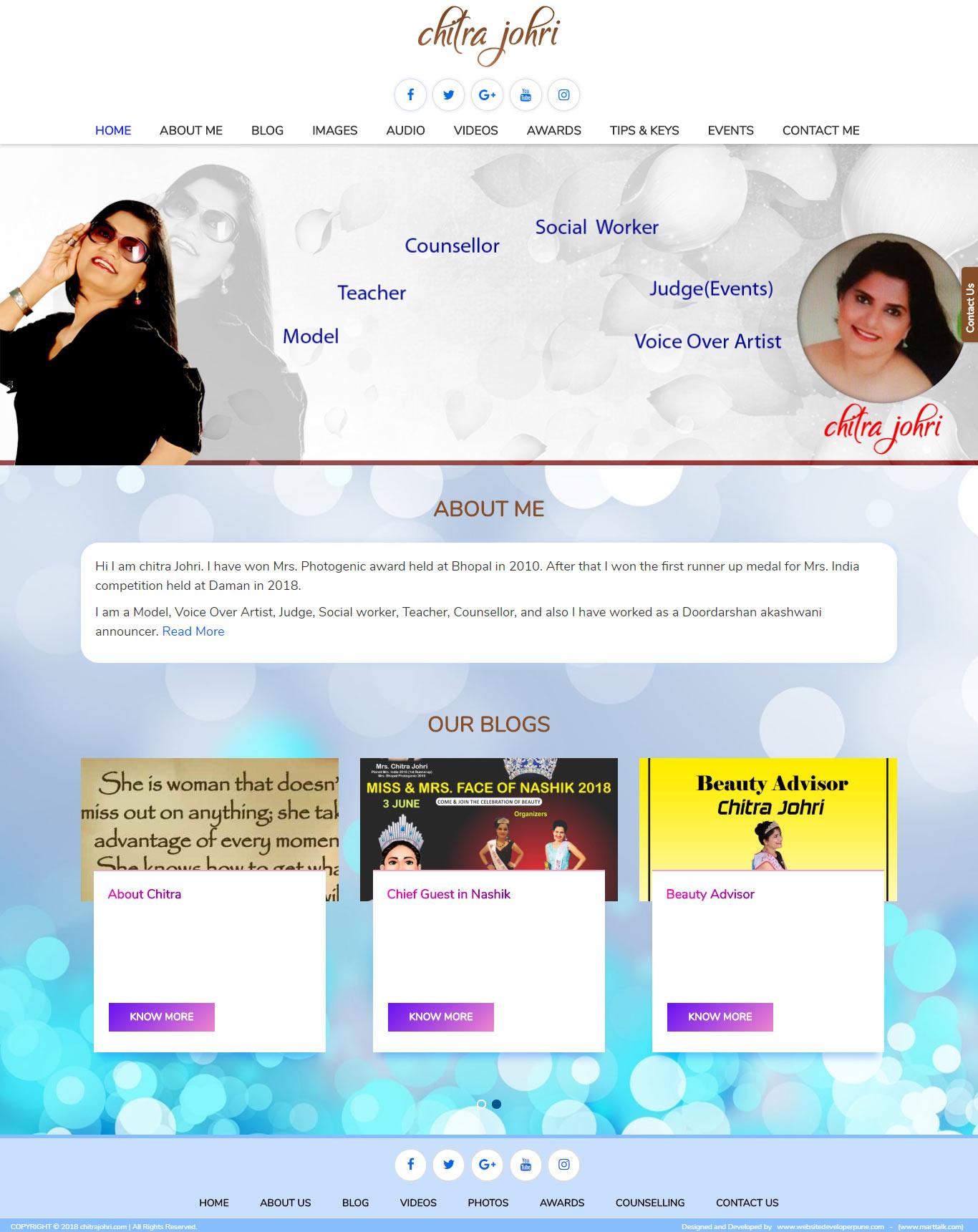 chitrajohri-com-vicky-webdeveloper-portfolio