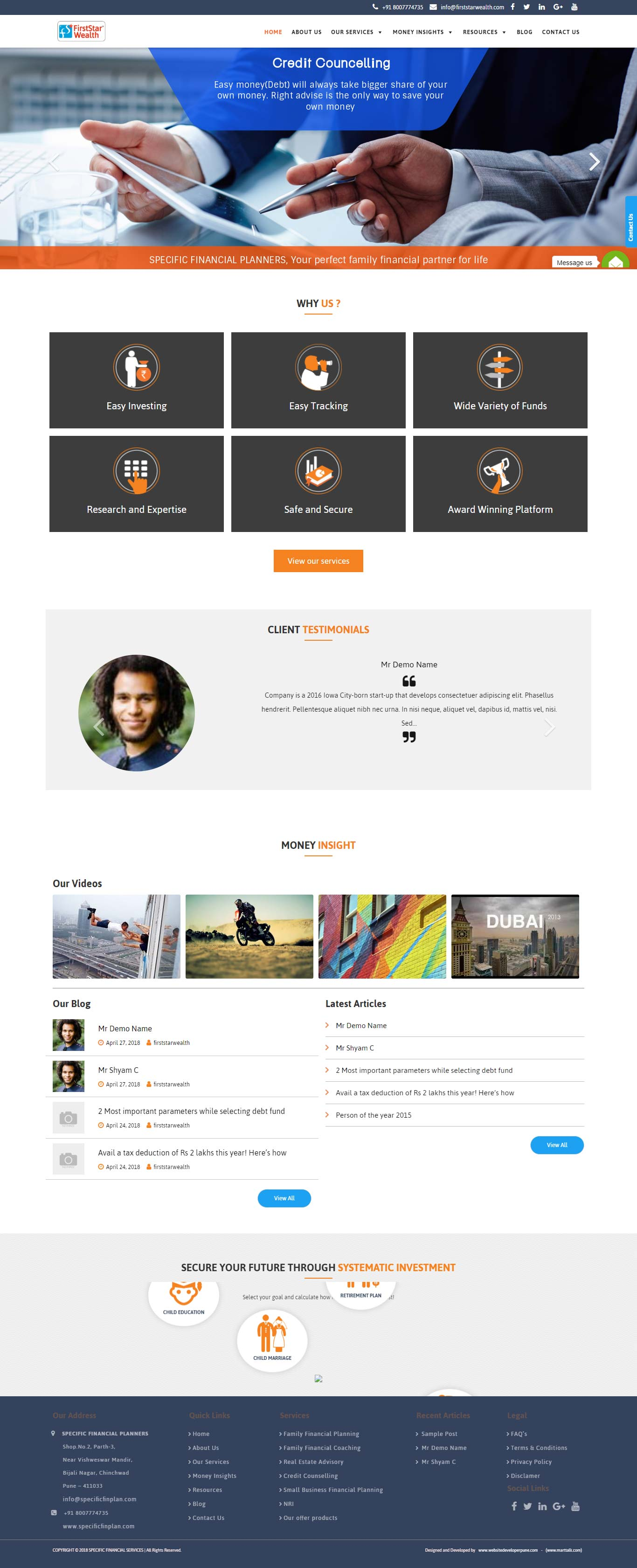 firststarwealth-in-website-developer-pune-portpholio