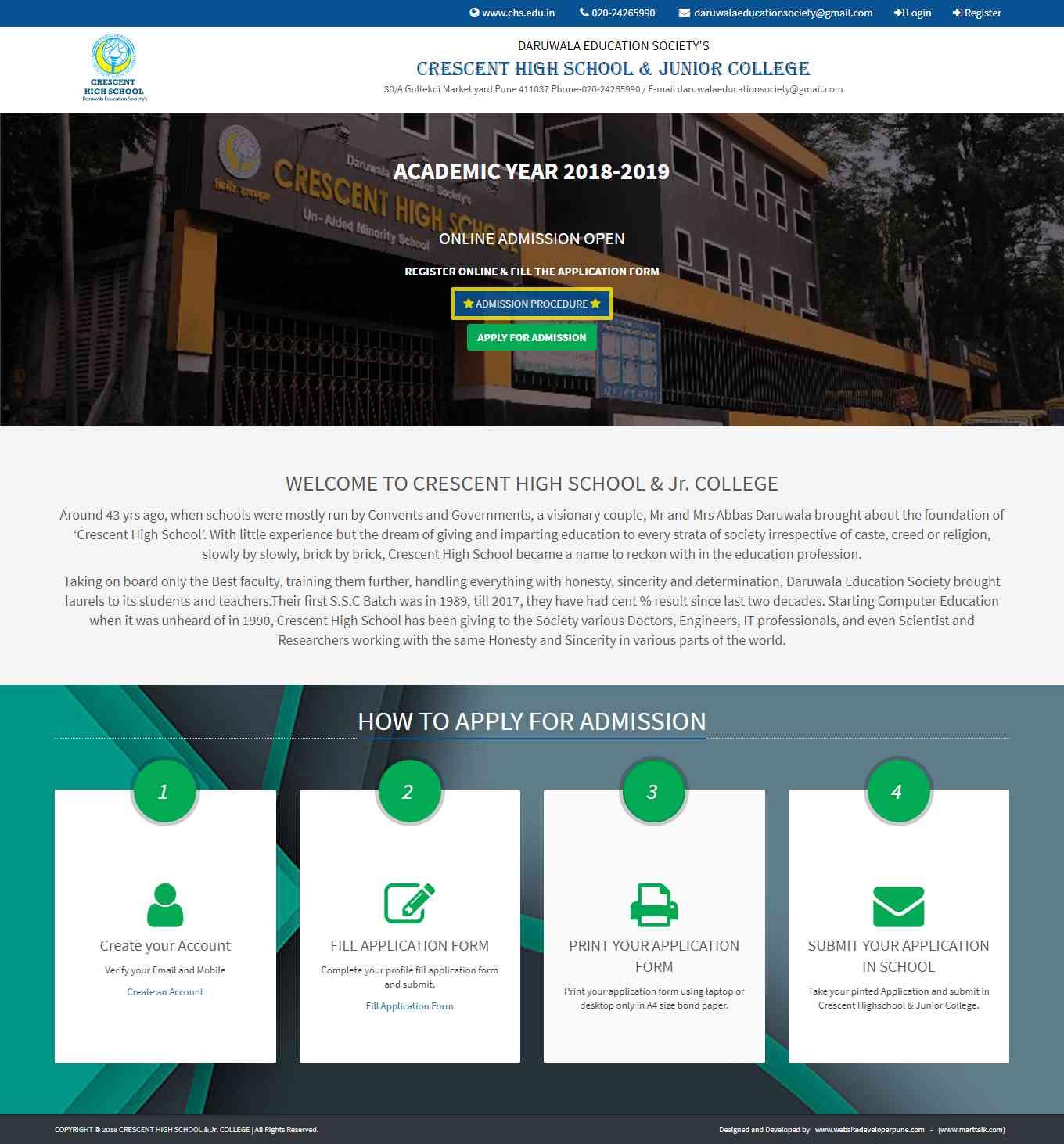 CHS Admission - Vicky Web Developer